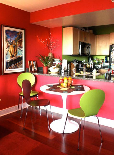 Small And Colorful Dining Area