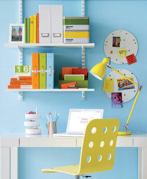 Colorful Home Office 23 colorful home office design ideas - digsdigs