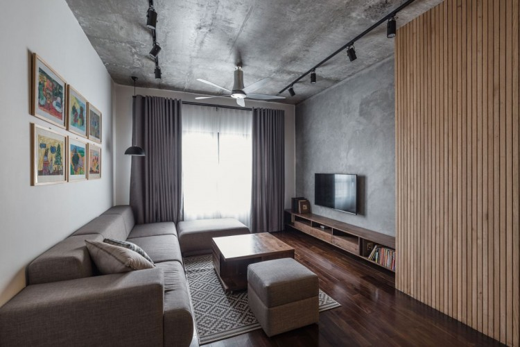 Small and stylish apartment with an industrial vibe digsdigs - Elegant minimalist loft design in masculine vibe wooden decoration ...
