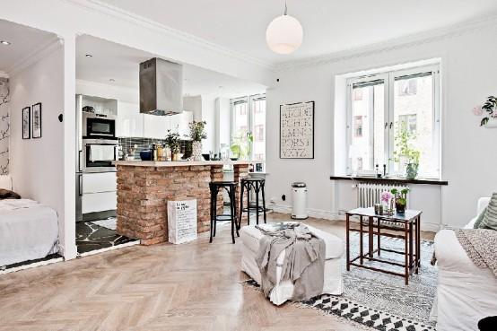 Small And Stylish Scandinavian Apartment Kept Spacious