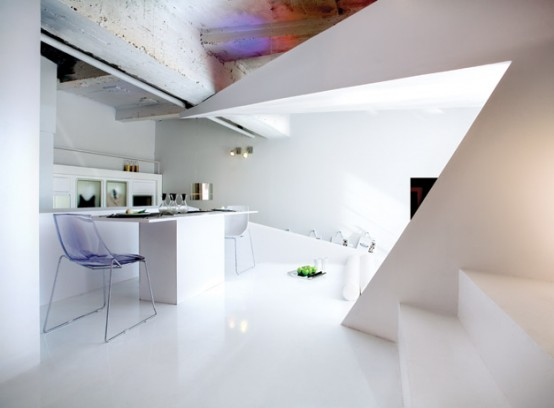 Small Apartment Futuristic Interior Design