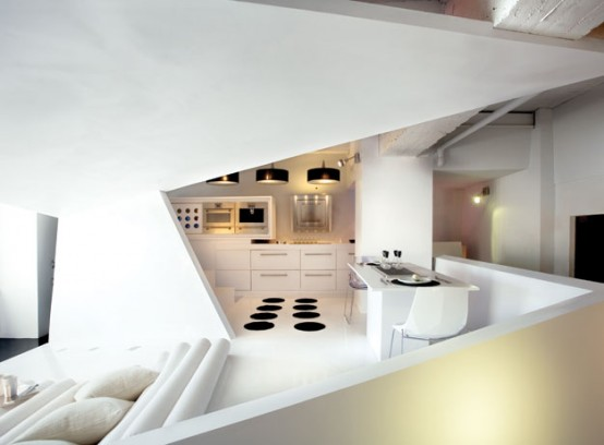Small Apartment Futuristic Interior
