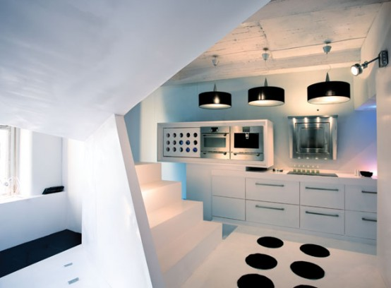 Small Apartment Futuristic Interior Design Digsdigs