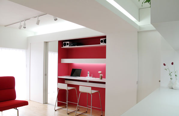 -in-small-apartment-red-