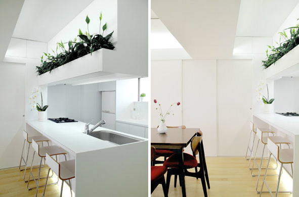 Small apartment design in modern and minimal style by for Apartment interior design japan
