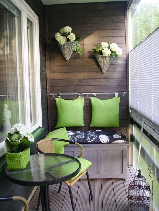 By choosing right materials you can make your balcony looks like a deck of some suburban house.