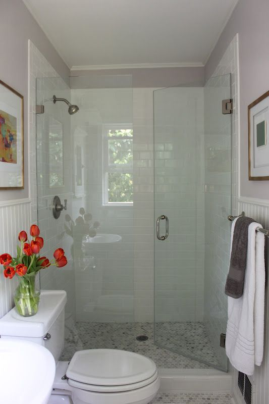 Great super small bathroom layout with a shower and a toilet