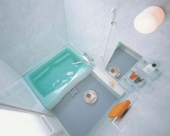 Compact and Small Bathroom Layouts from INAX | DigsDigs