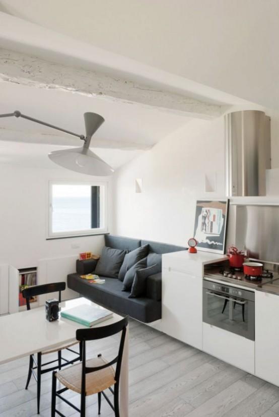 Small But Well Organized Apartment In Camogli