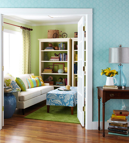 111 bright and colorful living room design ideas digsdigs for Bright green bedroom ideas