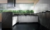 Small Contemporary Stone Kitchen