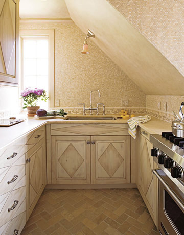Small French Inspired Kitchen