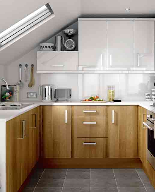 Genial Small Kitchen Squeezed Into A Loft