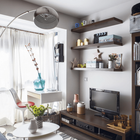 Bright Scandinavian Decor In 3 Small One Bedroom Apartments: Small Modern Apartment Design With Space-Saving Decor