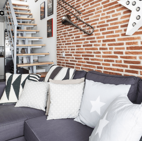Small Modern Apartment Design With Space Saving Decor