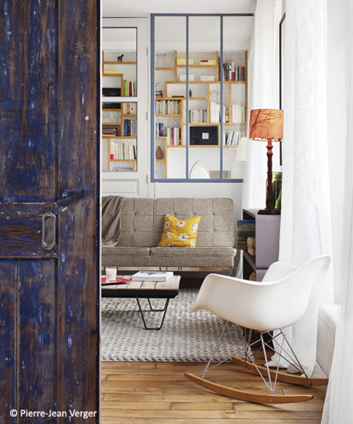 Small Parisian Loft With Colorful Touches And Unique Details