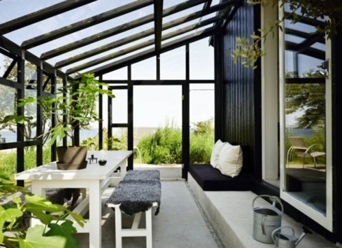 Small Sunroom Garden