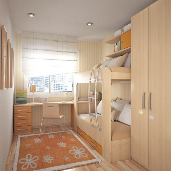 55 thoughtful teenage bedroom layouts digsdigs for Room design 3x3