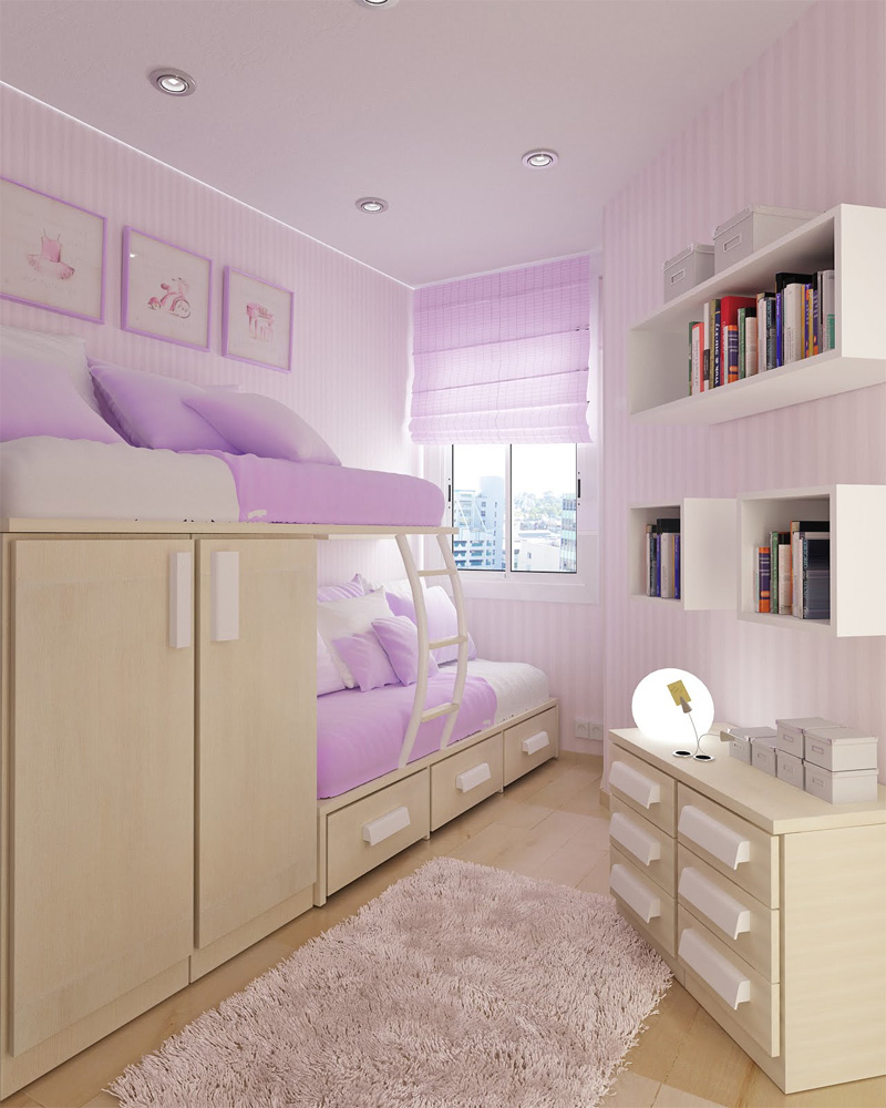 Teenage bedroom layout