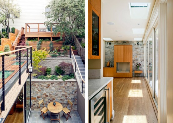 Small Victorian Home With Cool Courtyard and Roof Deck – Castro Residence by Jones Haydu
