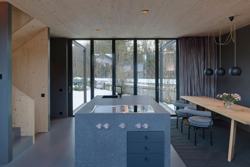 Small Wooden House With Smart Design And Mountain Views