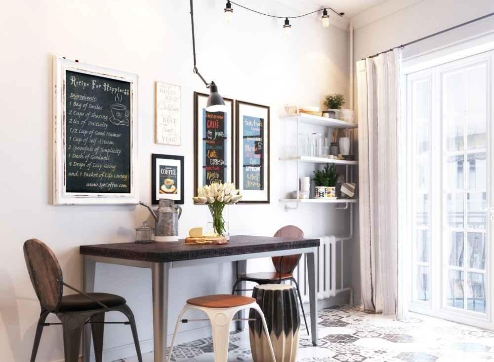 Picture Of small yet airy scandinavian kitchen design  1
