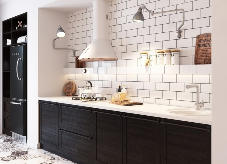 Scandinavian Kitchen Design add some black to the narrow scandinavian kitchen design texas construction company Small Yet Airy Scandinavian Kitchen Design
