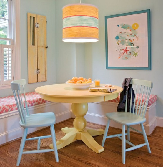 Small Yet Comfy Colorful Dining Area