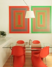 Small Yet Cool And Colorful Dining Area
