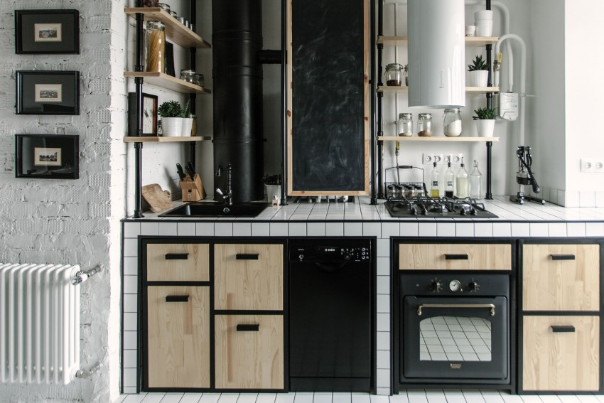 Small Yet Fashionable Apartment Decor With Industrial Touches