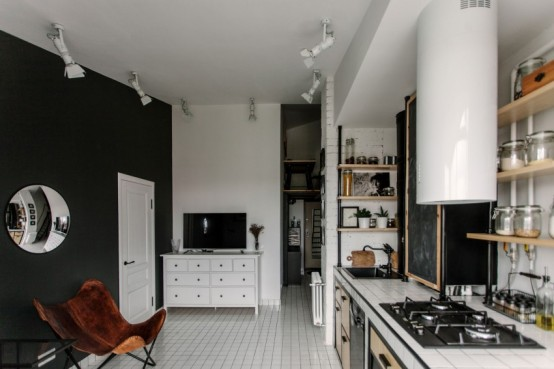 Small Yet Fashionable Apartment Decor With Industrial Touches DigsDigs Mesmerizing Industrial Apartment Decor
