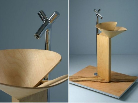 Smart And Elegant Wooden Washbasin