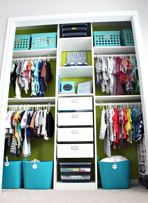 37 smart and fun ways to organize your kids clothes for Kids room closet ideas