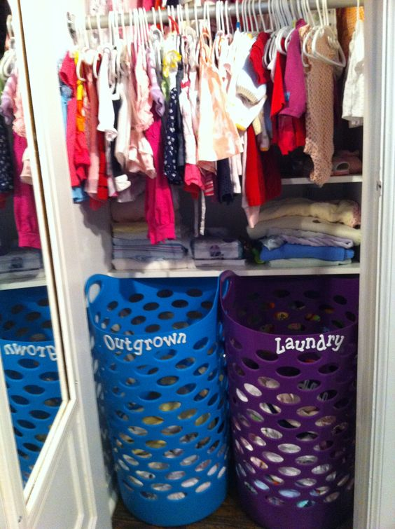 Picture Of smart and fun kids clothes organizing ideas  10