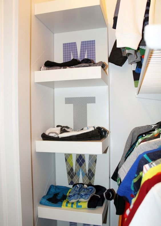 Picture Of smart and fun kids clothes organizing ideas  12