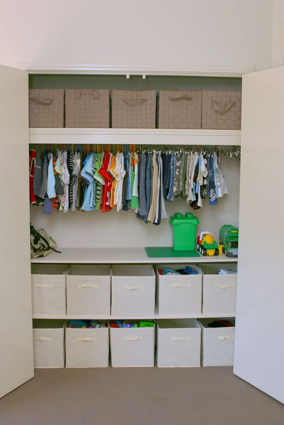 Picture Of smart and fun kids clothes organizing ideas  14