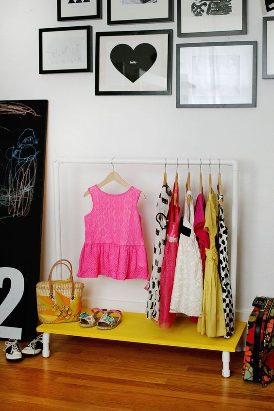 Picture Of smart and fun kids clothes organizing ideas  21