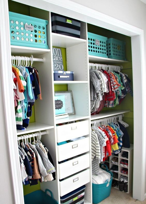 Picture Of smart and fun kids clothes organizing ideas  34