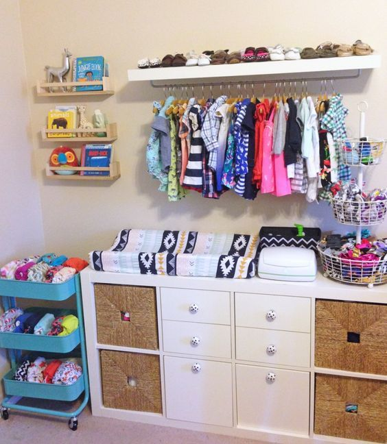 Picture Of smart and fun kids clothes organizing ideas  36
