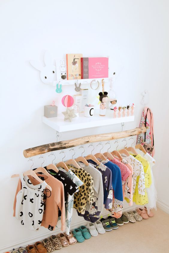 Picture Of smart and fun kids clothes organizing ideas  8