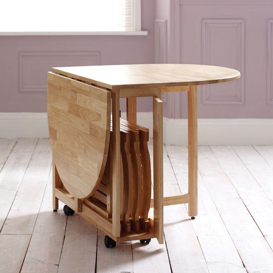 Compact Dining Table And Chairs: 32 Smart And Stylish Folding Furniture Pieces For Small
