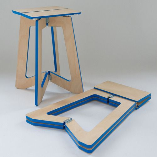 Picture of smart and stylish folding furniture pieces for for Flat pack muebles