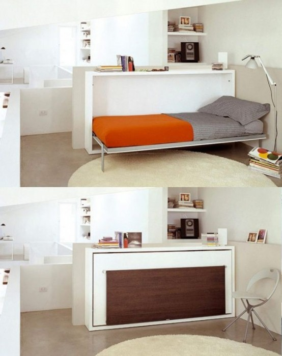32 smart and stylish folding furniture pieces for small spaces digsdigs - Furniture for a small space photos ...