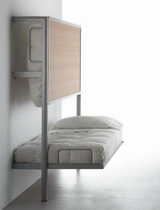 32 smart and stylish folding furniture pieces for small spaces digsdigs - Images of beds in small spaces ...