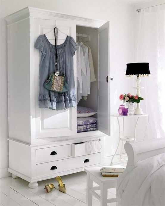 Clever wardrobe storage is a must have for any bedroom. It could be very functional so for small rooms that's more than enough.