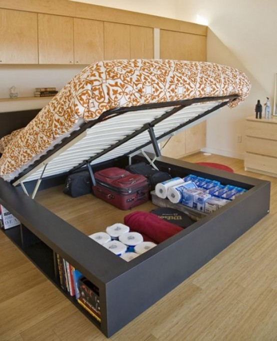 This unique bed is a perfect solution for a small bedroom. You won't even know what is hiding inside...