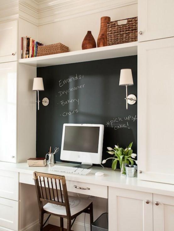 32 smart chalkboard home office d 233 cor ideas digsdigs diy cool and smart home decor ideas diy crafts list