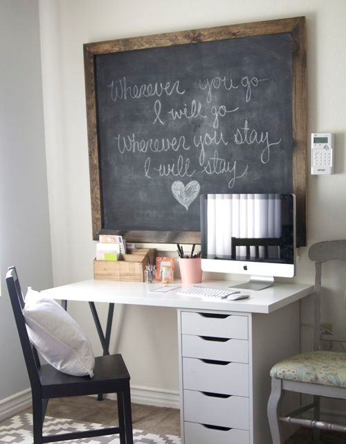 Charmant Chalkboard Office. Smart Chalkboard Home Office Decor Ideas K