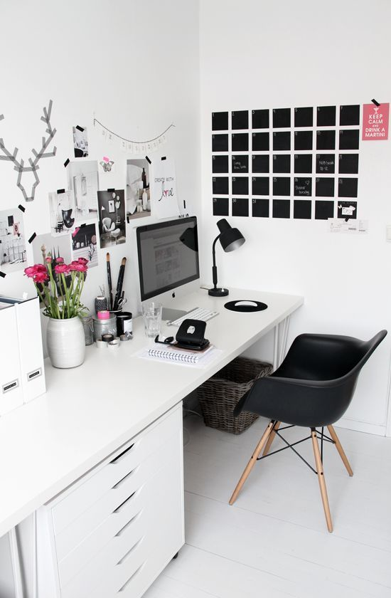 32 smart chalkboard home office d cor ideas digsdigs - Home decor ideas images ...