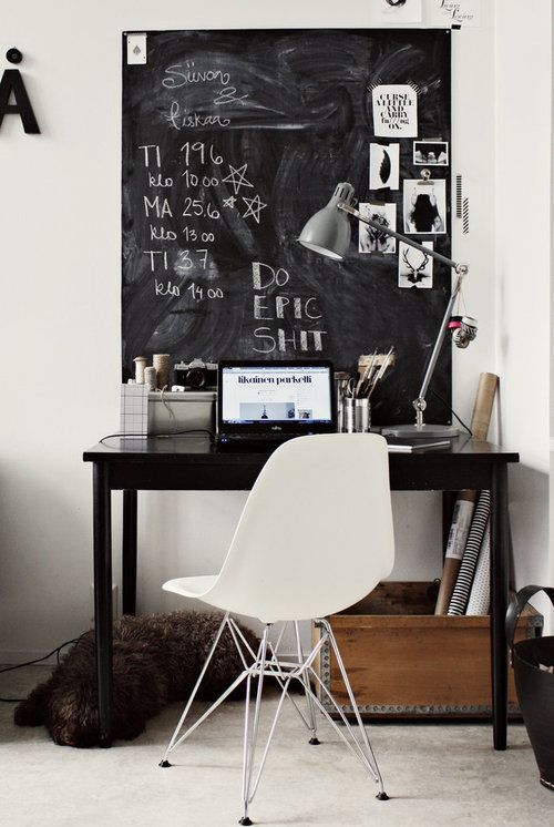 Smart Chalkboard Home Office Decor Ideas